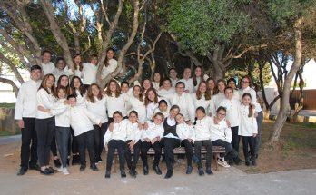 El cor 'gran' de l'Escolania de Ciutadella. foto Escolania de Ciutadella