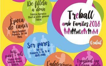Cartell progrma Treball amb Famílies 2018.