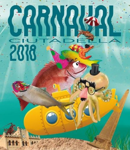 Imatge del cartell de Carnaval 2018 de l'Ajuntament