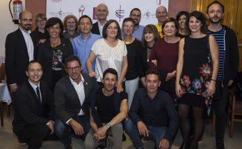 El guanyador del Born 2017 amb jurat, directius i convidats del Cercle. Foto Joan Antoni Gomila