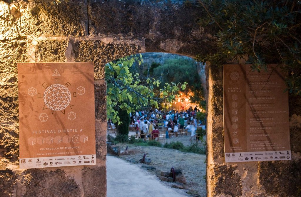 Les actuacions del Festival es fan a diverses pedreres de les de s'Hostal. Foto Festival Pedra Viva.
