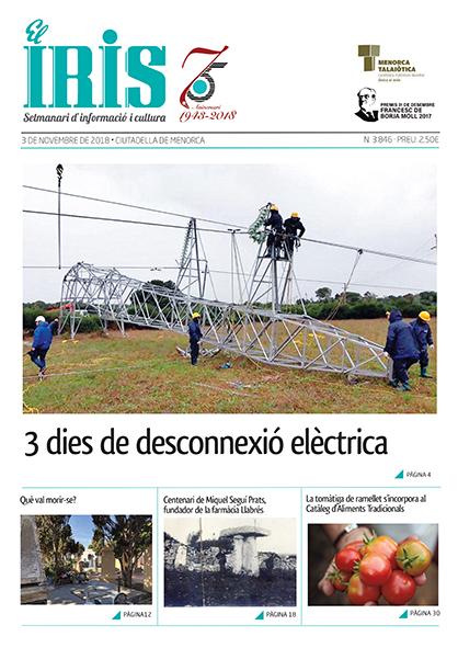 El Iris, portada 3 de Novembre