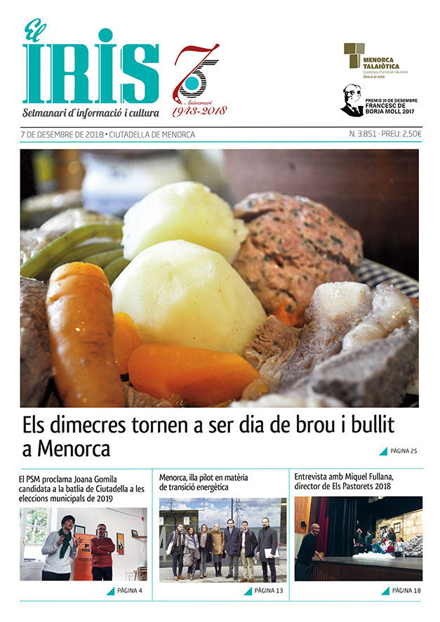 El Iris, portada 7 de desembre 2018